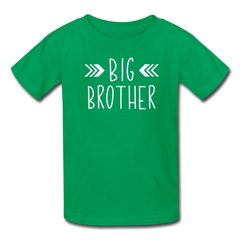 Big Brother Shirt, Kids' T-Shirt Fruit of the Loom - kelly green