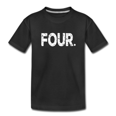 Boy 4th Birthday Shirt, Toddler Premium T-Shirt - black