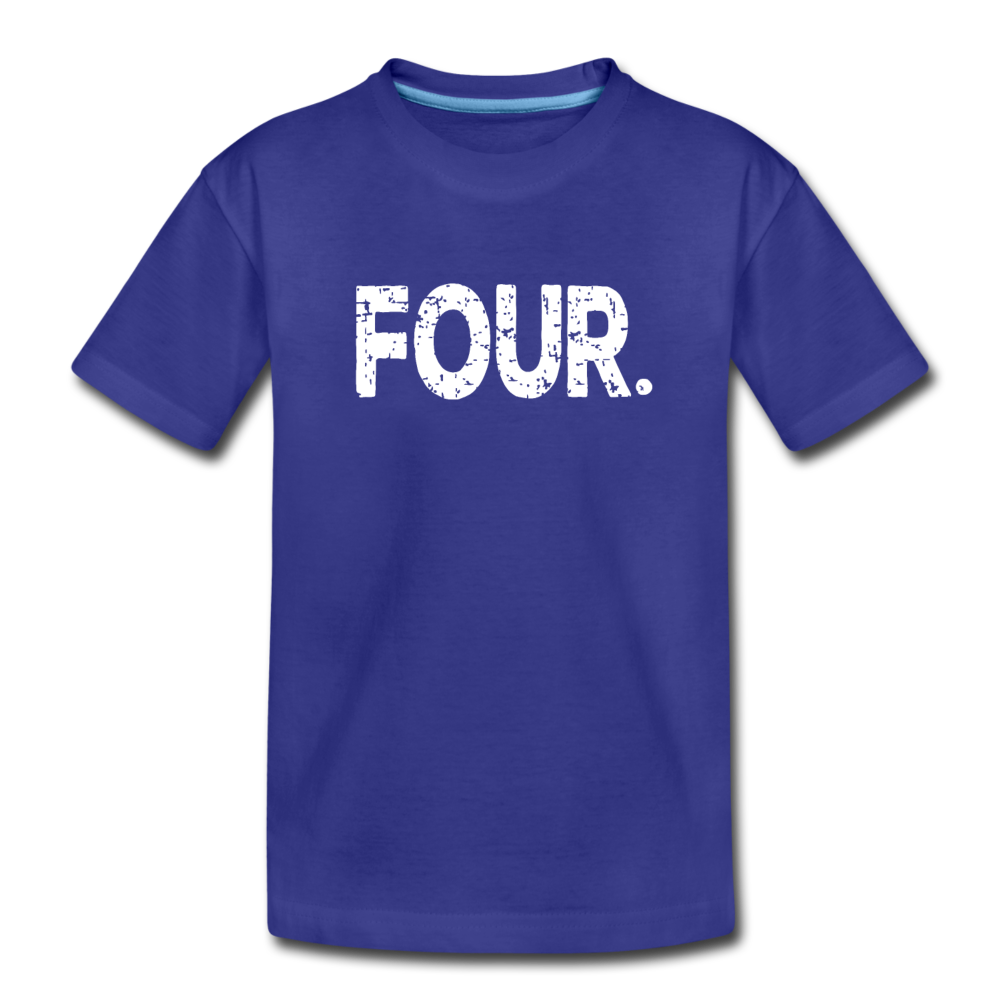 Boy 4th Birthday Shirt, Toddler Premium T-Shirt - royal blue