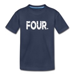 Boy 4th Birthday Shirt, Toddler Premium T-Shirt - navy