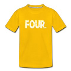 Boy 4th Birthday Shirt, Toddler Premium T-Shirt - sun yellow