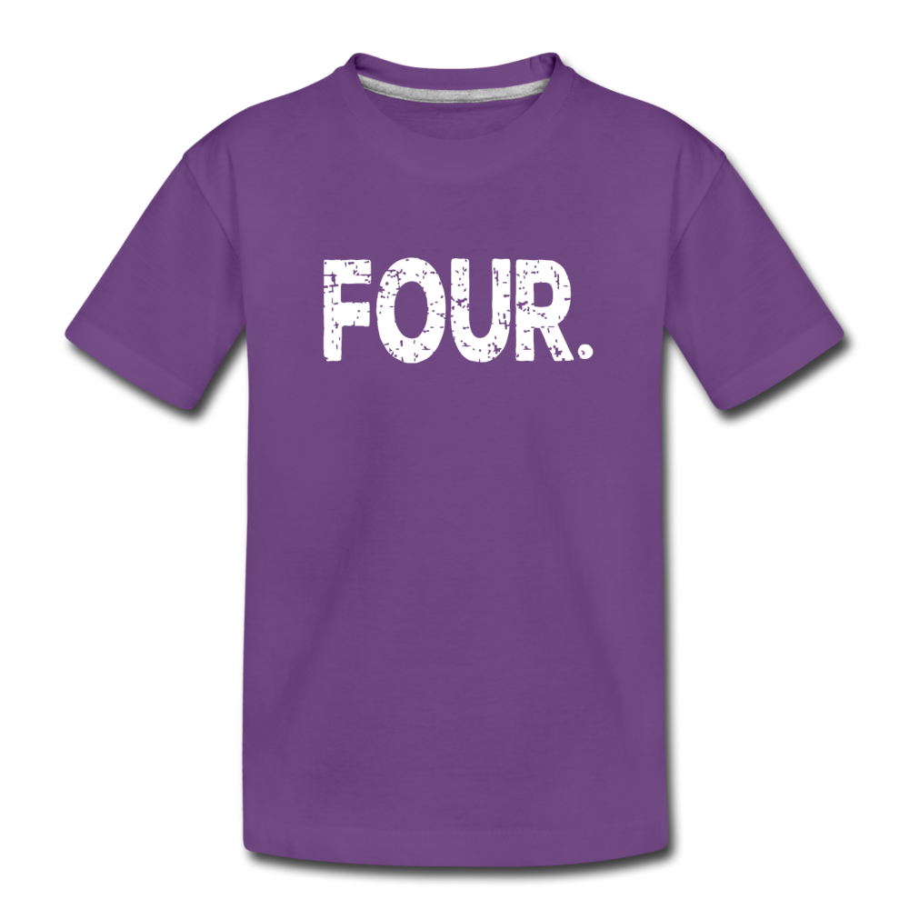 Boy 4th Birthday Shirt, Toddler Premium T-Shirt - purple
