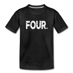 Boy 4th Birthday Shirt, Toddler Premium T-Shirt - charcoal gray