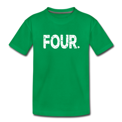 Boy 4th Birthday Shirt, Toddler Premium T-Shirt - kelly green