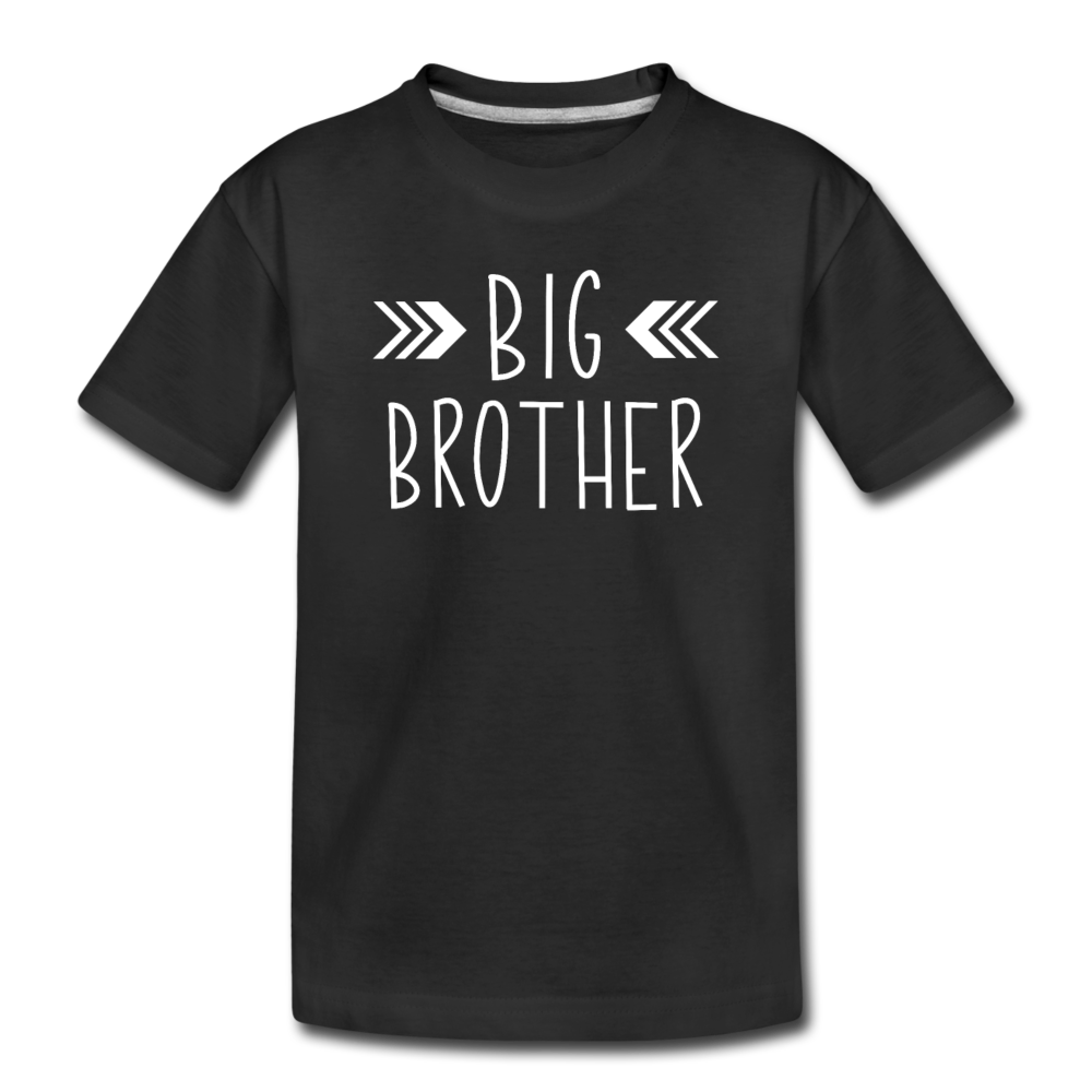 Big Brother Shirt, Toddler Premium Organic T-Shirt - black