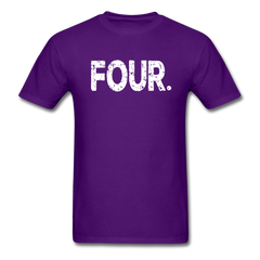 4th Birthday, Unisex Classic T-Shirt - purple