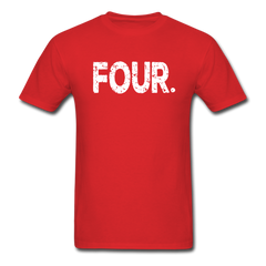 4th Birthday, Unisex Classic T-Shirt - red