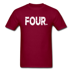 4th Birthday, Unisex Classic T-Shirt - burgundy