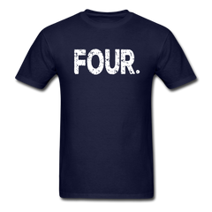 4th Birthday, Unisex Classic T-Shirt - navy