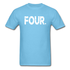 4th Birthday, Unisex Classic T-Shirt - aquatic blue