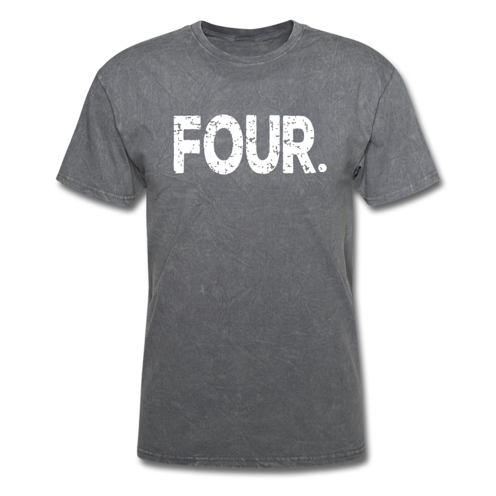 4th Birthday, Unisex Classic T-Shirt - mineral charcoal gray