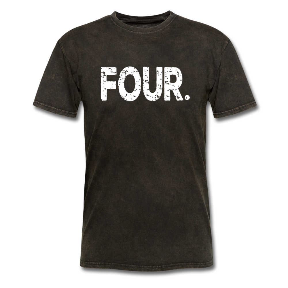 4th Birthday, Unisex Classic T-Shirt - mineral black