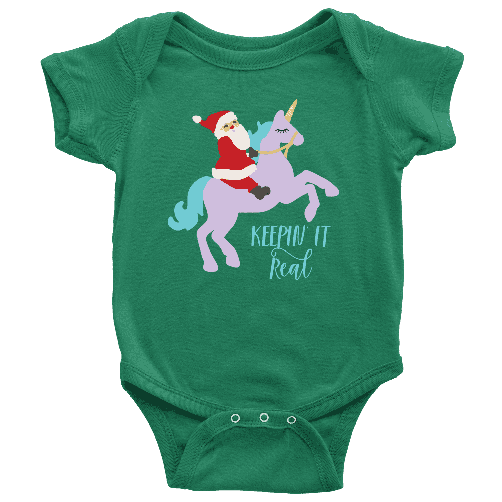 Unicorn Christmas Bodysuit for Baby's 1st Christmas