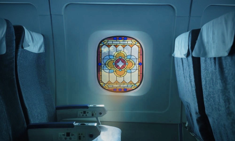 """Stained Glass"" Airplane Window"