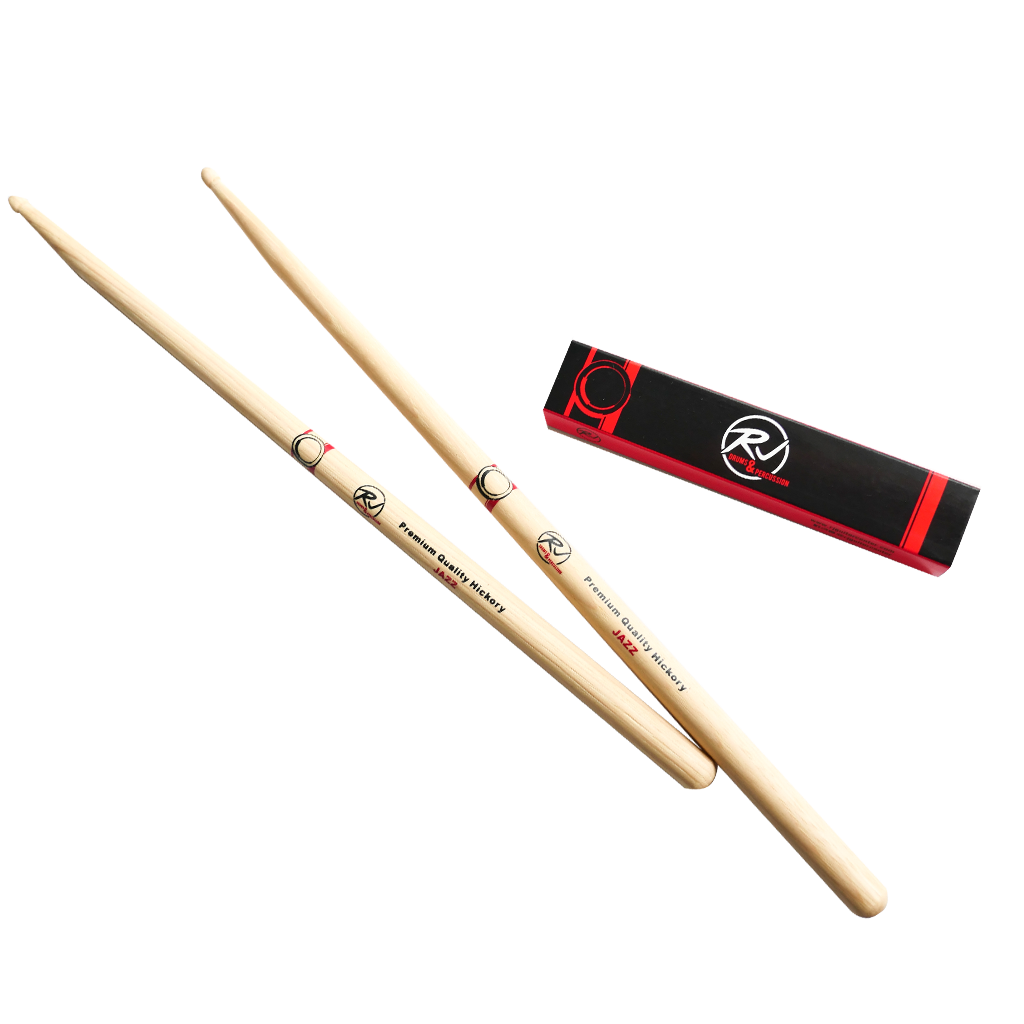 RJ Premium Drum Sticks - Jazz Hickory