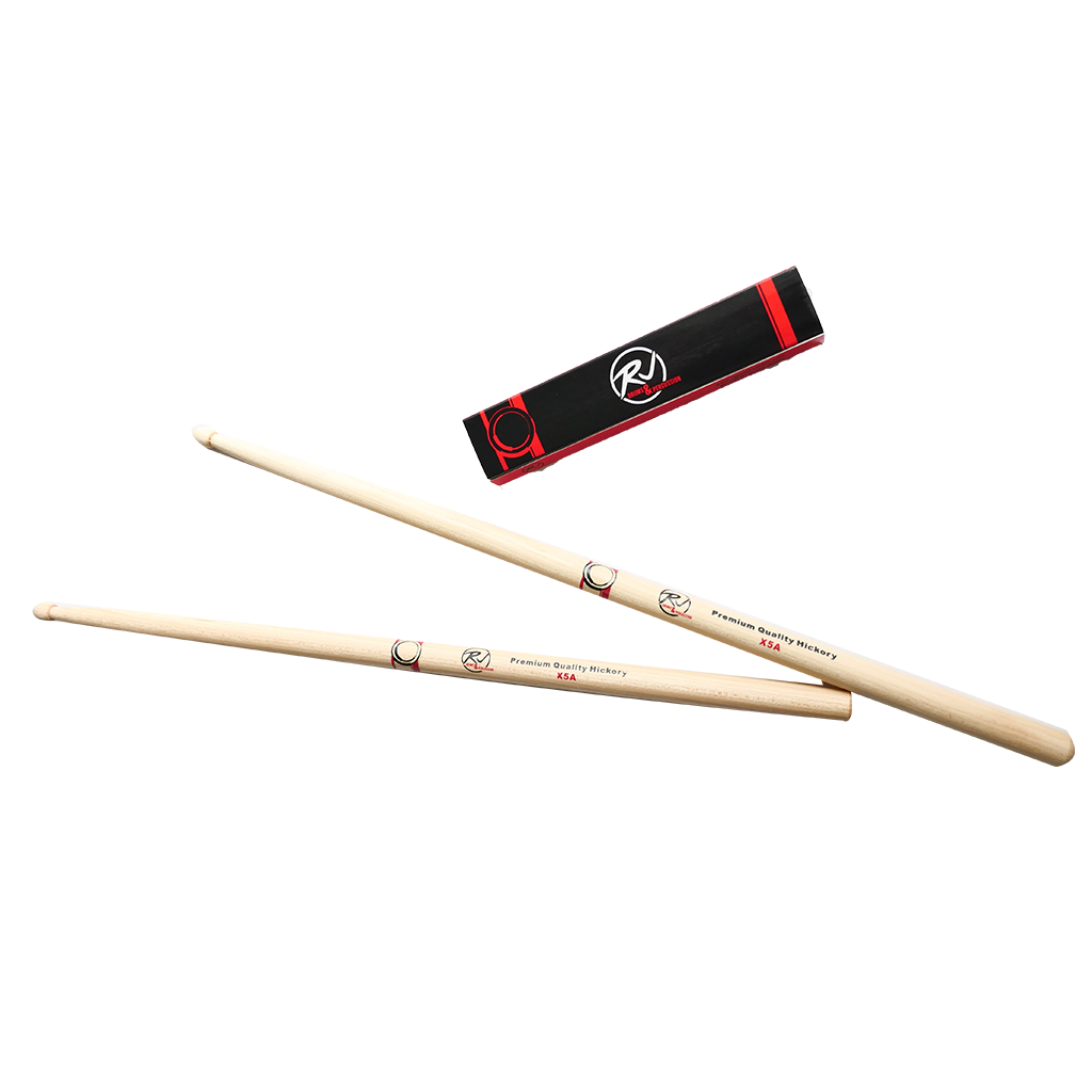 RJ Premium Drum Sticks - X5A Hickory