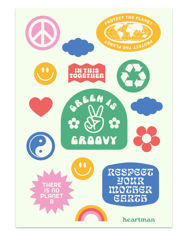 Green is Groovy Sticker Sheet