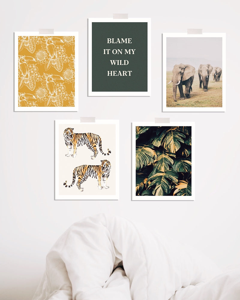 Jungle Love Print 5 Pack