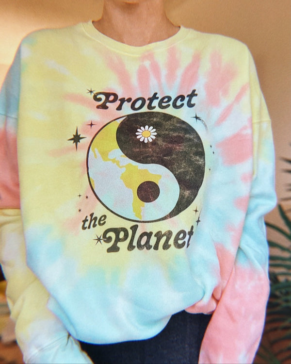 Protect the Planet Tie-Dye Crewneck