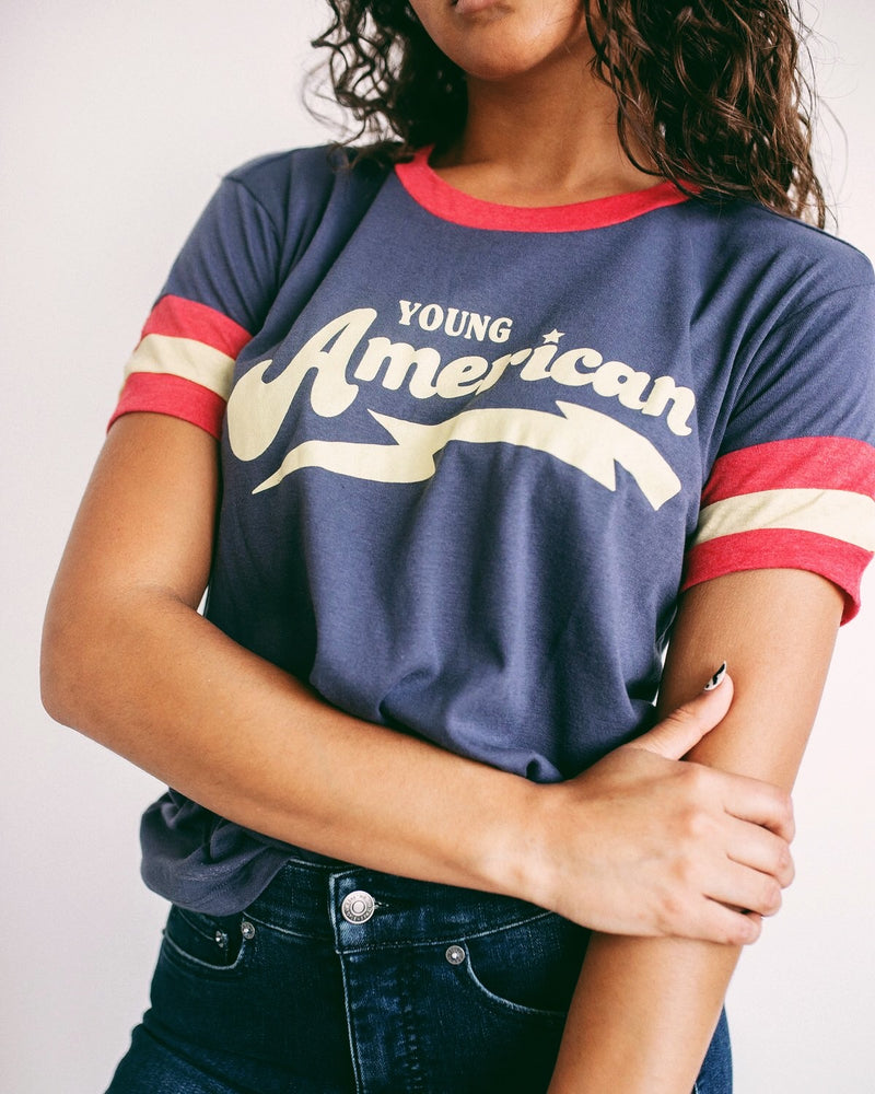 Young American Ringer Tee