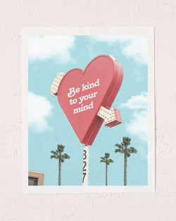 Kind Mind Heart Print