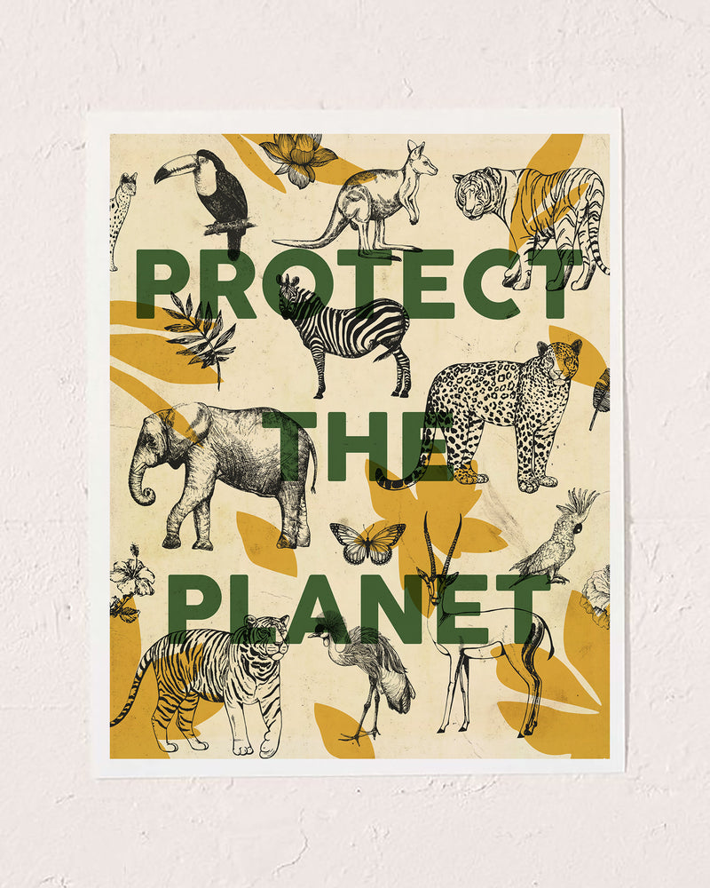 Protect the Planet Art Print