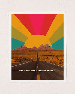 Road Less Traveled Art Print