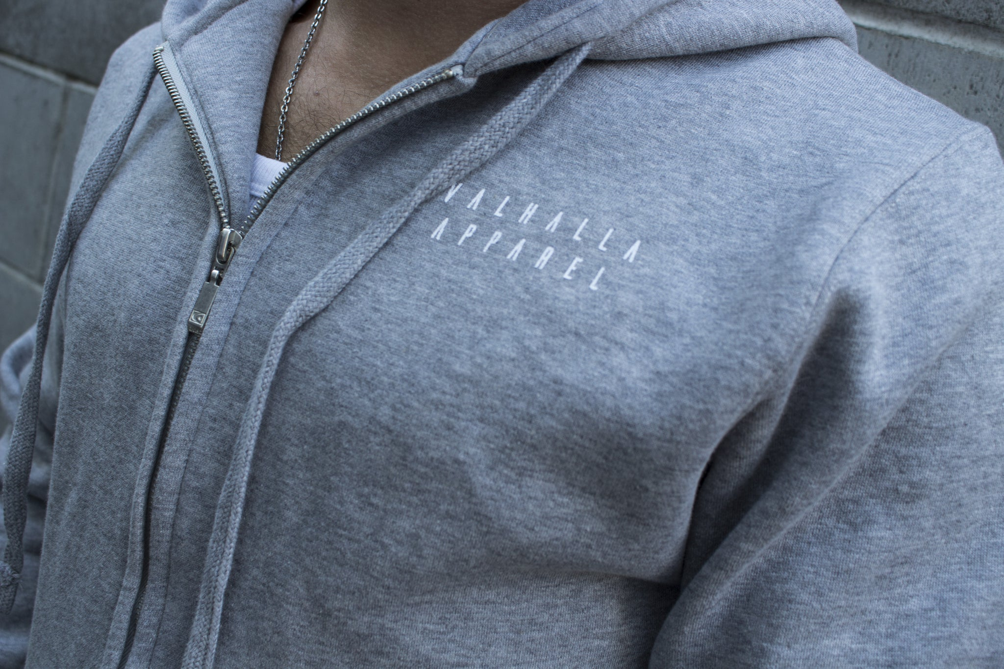 Mens Athletic Grey Zip up Hoodie