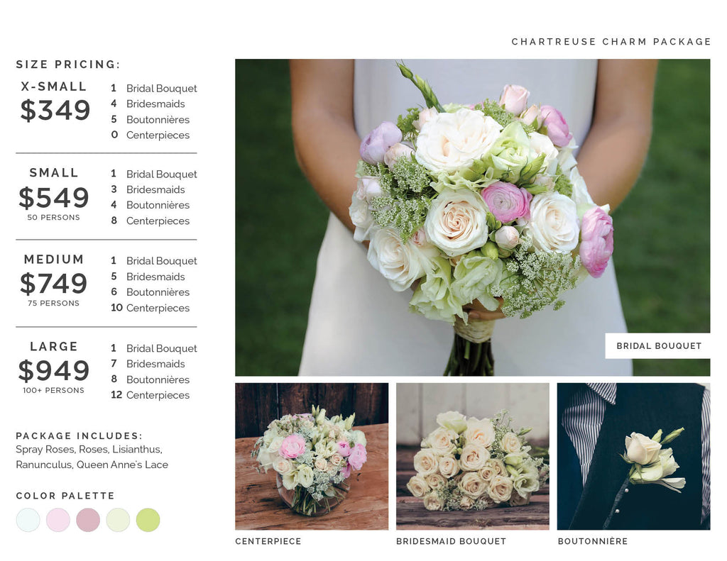 Charming Chartreuse Wedding Flowers