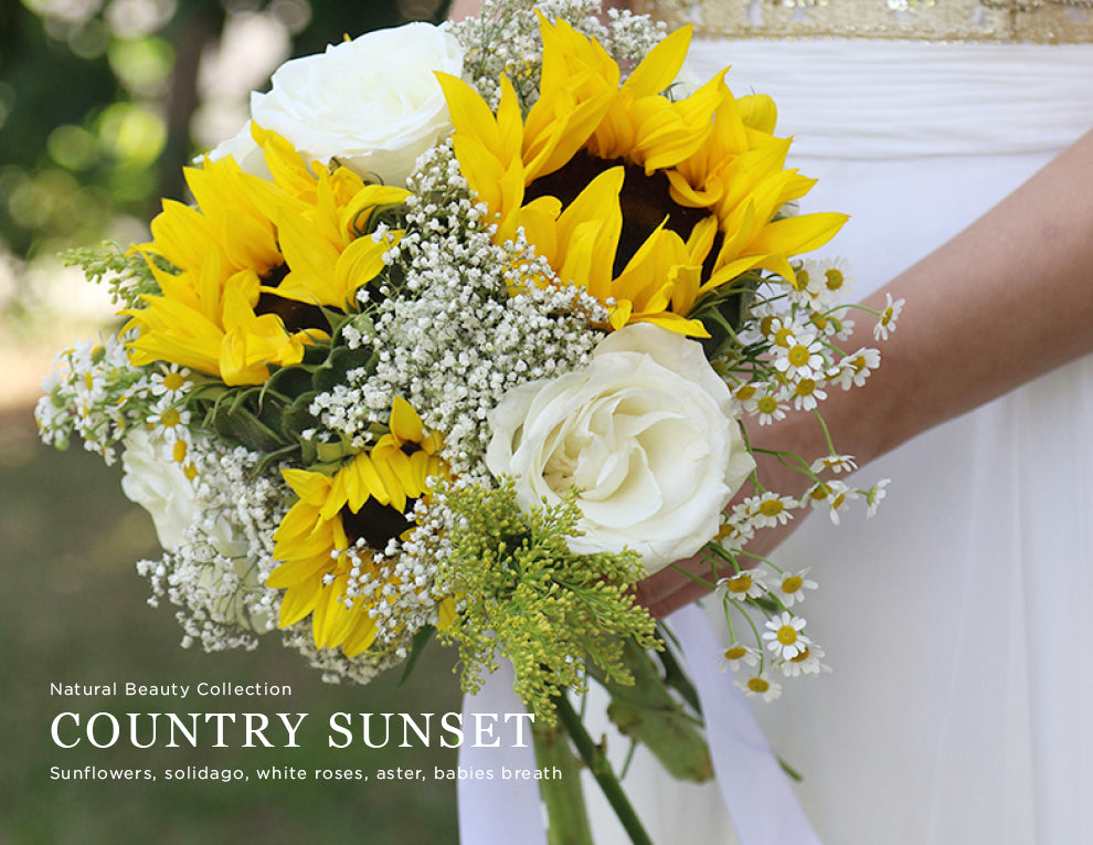 Country Sunset Wedding Flower Package by Kukka Flowers