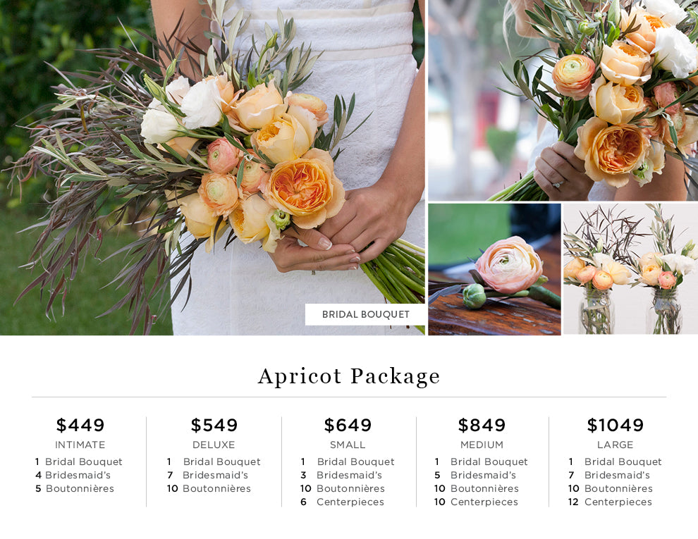 Apricot Peach Flower Pricing