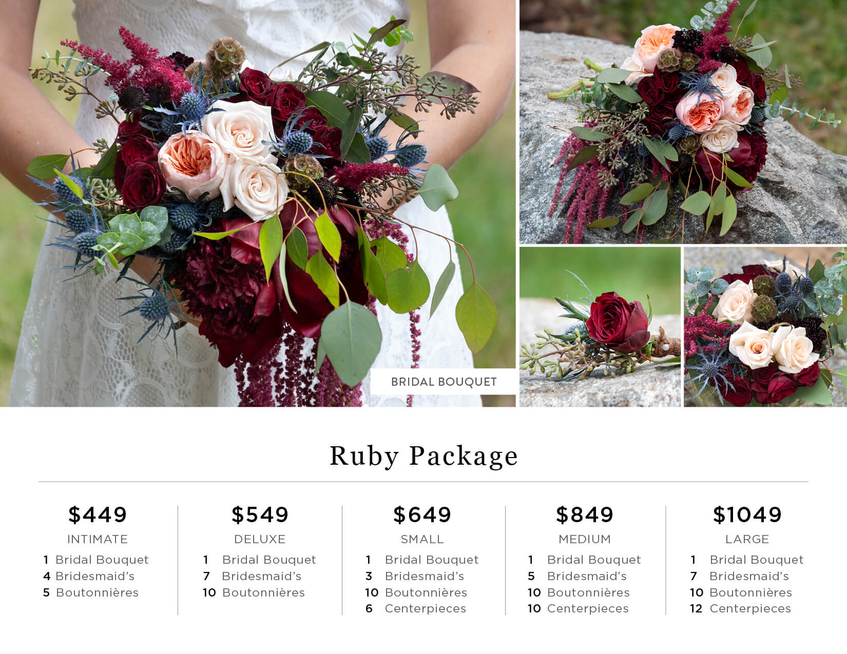 Diy wedding flowers catalog bridal bouquets seasonal year ruby diy wedding flower pricing izmirmasajfo