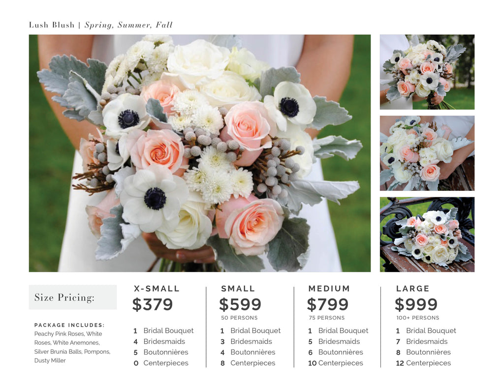 Lush Blush Wedding Flower Pricing
