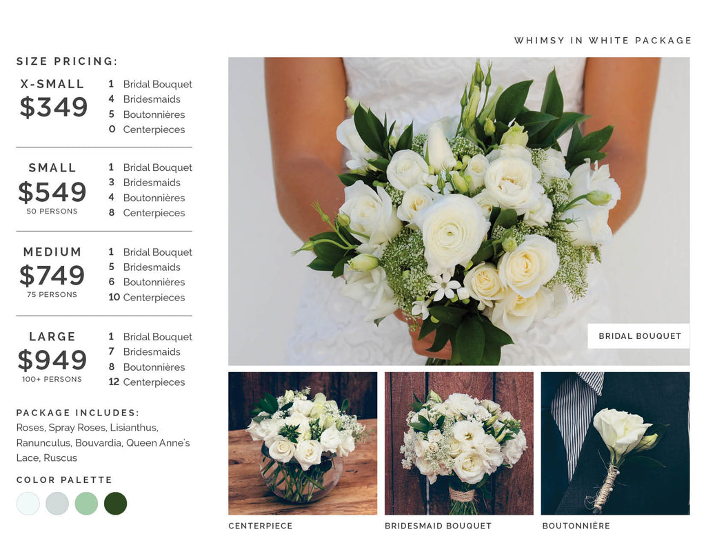 Whimsy in White Wedding Flowers
