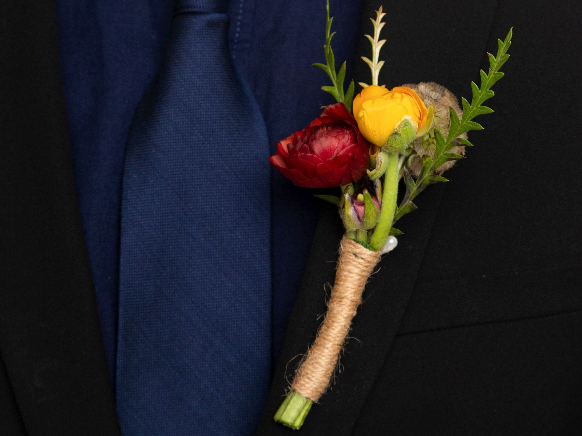 Autumn Bliss Boutonniere