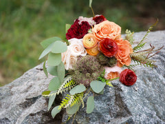 Autumn Bliss DIY wedding flowers rock