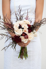Dark Romance DIY wedding flowers bridal bouquet