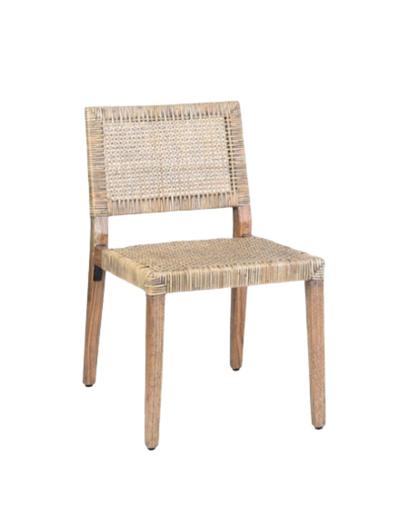 modern rattan dining chair