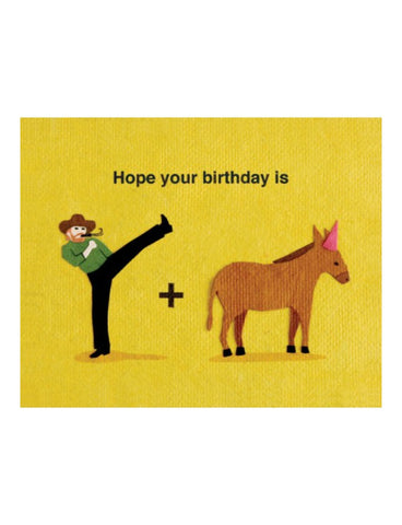 Kick Ass Birthday Card