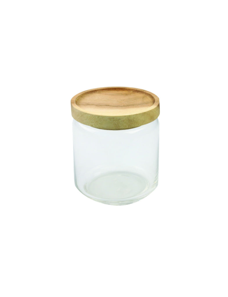Glass Canister With Acacia Lid