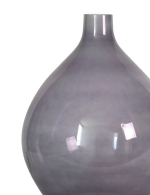 Large rounded purplish gray vase