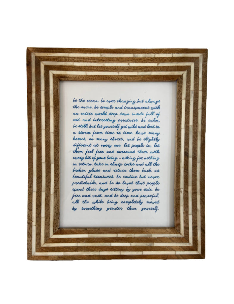 be the ocean framed print