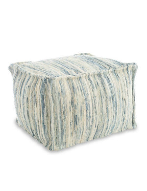 Denim Rag Pouf