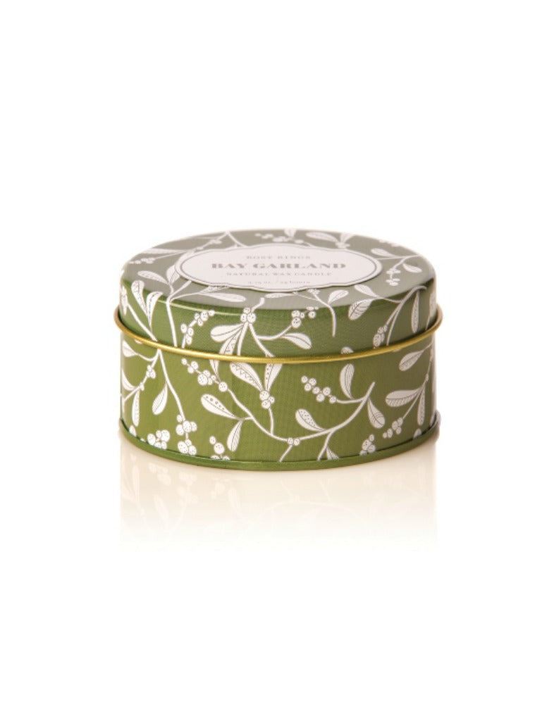 Bay Garland Travel Tin Candle