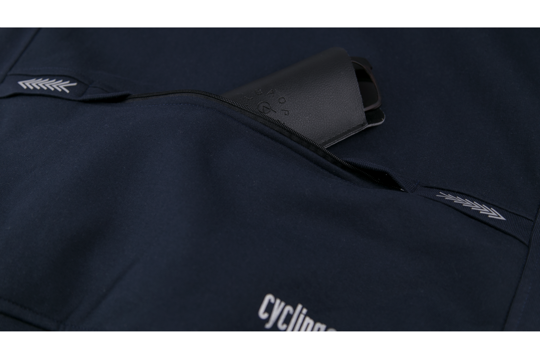 Cycling Sweatshirt (Reflective) - Navy Blue