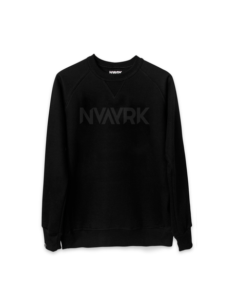 Cycling Sweatshirt (Reflective screen printing) - Black
