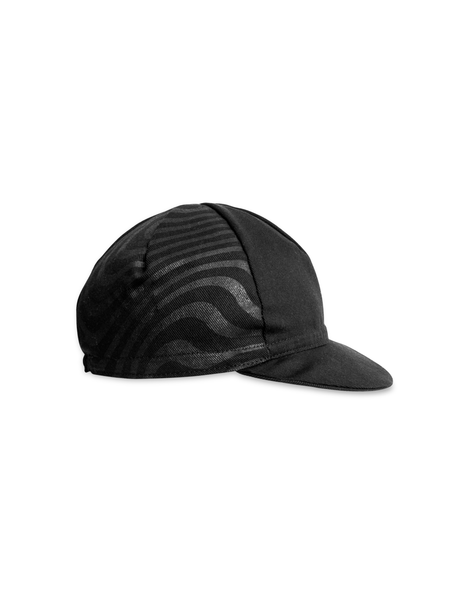 Essentials Waves Cycling Cap - Black On Black