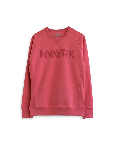 Cycling Sweatshirt (Reflective screen printing) - Coral