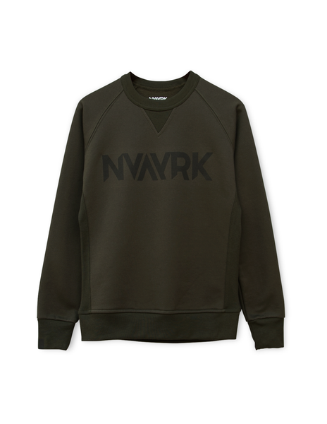 Cycling Sweatshirt (Reflective screen printing) - Military Green