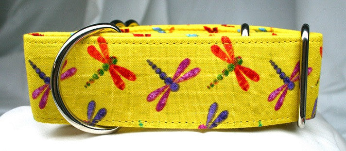 Dancing Dragonflies on Goldenrod Collar